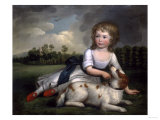 Miss Ramsden and Her Dog, c.1800 Giclee Print