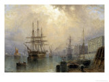 H.M.S. War Sprite off Greenwich Giclee Print by Claude T. Stanfield Moore