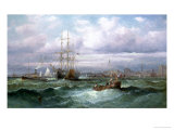 Shippping of the Coast at Brighton Giclee Print by Charles Thorneley