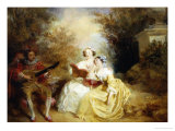 La Lecon de Chant Giclee Print by Charles Emile Wattier