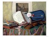 Still Life with Violin Giclée-Druck von Henri Ottmann