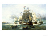 Naval Engagement Giclee Print by Francois Musin