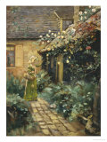 Picking Roses Giclee Print by George Smith
