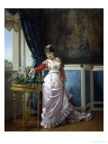 Watering Flowers Giclee Print by Auguste Toulmouche