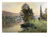 On the Banks of the River at Bougival Impression giclée par Alexandre Nozal