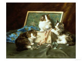 Mischief with the Sewing Basket Giclee Print by Daniel Merlin