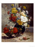 Still Life of Summer Flowers Giclee Print by Eugene Henri Cauchois