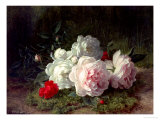 Roses on a Mossy Bank Giclee Print by Jules Medard