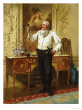 The Butler's Glass Giclee Print by Walter Sadler