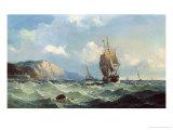 Shipping in a High Sea Giclée-trykk av John Henry Claude Wilson