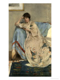 Young Woman Reading Giclee Print by Harper Pennington