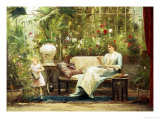 Willing Helper Giclee Print by Mihaly Munkacsy