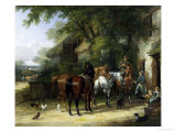 The Horse Fair at the Swan Inn Giclee Print by William Shayer Sr.