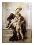 The Madonna and Child with St. John Giclee Print by Leon Perrault