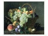 Naturaleza muerta: fruta Lámina giclée por Jean A. Mouchet