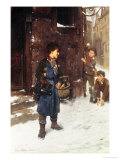 Fun and Games in the Snow Giclee Print by Johann F.j. Hintze