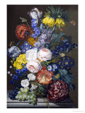 Rich Still Life of Summer Flowers Giclee Print by Sebastian Wegmayr