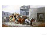 The Bristol Stagecoach Leaving the Fourteen Stars Tavern Giclee Print by John Charles Maggs