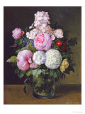 Still Life of Pink Roses Giclee Print by Carl H.k. Moller