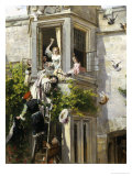 Attack and Defense Giclee Print by John Callcott Horsley
