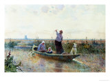 Punting Giclee Print by Hector Caffieri