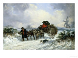 Home from the Market with the Christmas Holly Giclee Print by Thomas Smythe