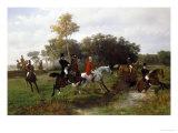 The Steeplechase Giclée-Druck von Otto Van Thoren