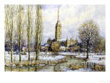Salisbury Cathedral from the Water Meadows, c.1893 Giclee Print by John Sutton