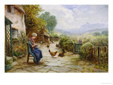 Peeling Potatoes Giclee Print by Ernest Walbourn