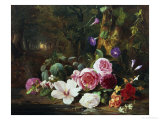 Forest Flowers Giclee Print by Jean Baptise Robie