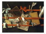 Still Life of Noteboard, c.1664 Giclée-Druck von Samuel Van Hoogstraeten