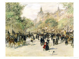 Boulevard Haussmann, Paris Giclee Print by Jean Francois Raffaelli