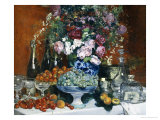 Flowers, Fruit and Champagne Giclee Print by Jean Francois Raffaelli