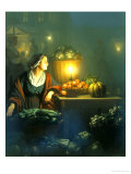 The Market Stall Giclee Print by Petrus van Schendel