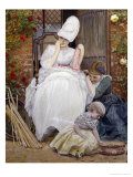 The Florist's Family (detail) Giclee Print by Edward Killingworth Johnson