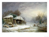 Winter Landscape Giclee Print by Joseph Such