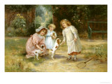 New Playmates Giclee Print by Ernest Walbourn
