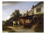 Morning at the Blacksmith&#39;s, Norfolk Giclee Print by Edward Charles Williams