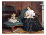 Quiet Afternoon Together Giclee Print by George Goodwin Kilburne