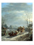 The Exeter Coach in the Snow Giclee Print by John Charles Maggs