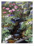Alpine Flowers by a Stream Reproduction procédé giclée par Otto Didrik Ottesen