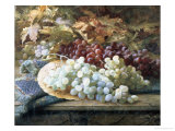 Black and White Grapes Giclee Print by William Jabez Muckley