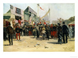 Festival on the Esplanade des Invalides Giclee Print by Pierre Vauthier