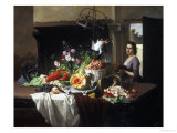 Preparations for Dinner Giclee Print by David Noter