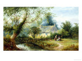 Cottage in Derbyshire Giclee Print by George Turner