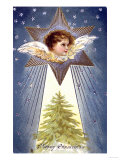 Happy Christmas - Giclee Baskı