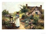 Cottage Garden Giclee Print by Ernest Walbourn