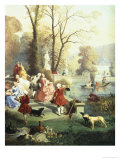The Elegantes at Versailles Giclee Print by Jules Achille Noel