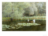 The Lily Pond Giclee Print by Edward R. Taylor