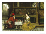 The Game of Chess Giclee Print by Albert Frans Lieven De Vriendt
